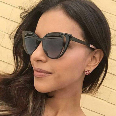 ROYAL GIRL 2017 brand designer women Sunglasses vintage acetate frame retro gradient cat eye shaped ss719