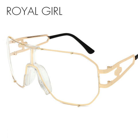 ROYAL GIRL 2017 New Women Sunglasses Clear Vintage Unique Oversized Shades Gradient For Female Glasses ss207