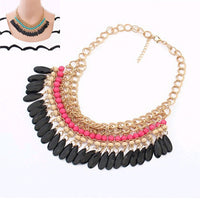 2015 Collier Femme statement resin beads Bohemian Necklaces and pendants gold necklace women Strain jewelry accessories - Raja Indonesia