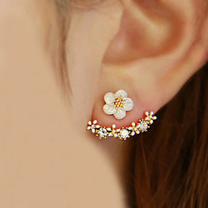 2016 Korean Fashion Imitation Pearl Earrings Small Daisy Flowers Hanging After Senior Female Jewelry Wholesale - Raja Indonesia