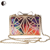 2016 New Fashion Women Handbags Metal Patchwork Shinning Shoulder Bags Ladies Print Day Clutch Wedding Party Evening Bags bh507 - Raja Indonesia