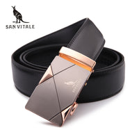 2016men's fashion100% Genuine Leather belts for men High quality metal automatic buckle Strap male Jeans cowboy free shipping - Raja Indonesia