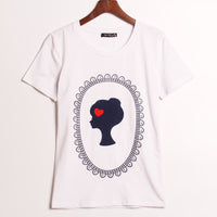 2016 New Fashion T Shirt Women Lady In  The Mirror Printed Printing T-shirt Women Tops Tee Shirt Femme  Hot Summer Woman Cloth - Raja Indonesia