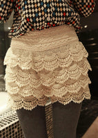 2016 New Fashion spring-summer  Layers lace shorts,Vintage Tassel Elastic Wave Bottoming Lace Shorts Skirts Women - Raja Indonesia
