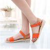 Sweet Ladies Basic Adhesive Sandals 3 Colors Patch Comfortable Flat Women Shoes Summer Style Soft Leather Leisure Sandals