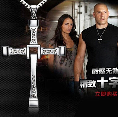 New Male Necklaces & Pendants Fashion Movie jewelry The Fast and The Furious Toretto Men Classic CROSS Pendant Necklace N134 - Raja Indonesia