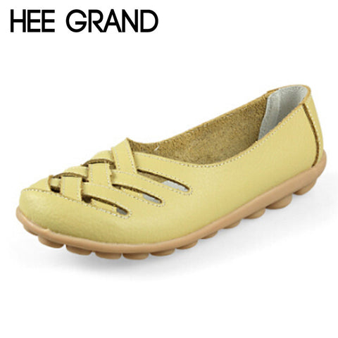 HEE GRAND Nest Hole Women Shoes 2016 Summer Style Leather Sandals Cool Flats Comfort Shoes Woman Candy Color Size 35-40 XWZ132 - Raja Indonesia