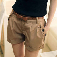 2016 New Fashion Women Summer Shorts Short Woman Casual Ladies Shorts Without  Belt  A0016 - Raja Indonesia