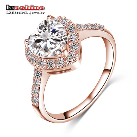 Cincin Love Kristal Rose Gold D'amare - Raja Indonesia