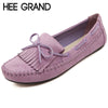 HEE GRAND Candy Color Women Loafers Tassel Fashion Round Toe Ladies Flat Shoes Woman Sweet Bowtie Flats Casual Shoes XWD2477 - Raja Indonesia