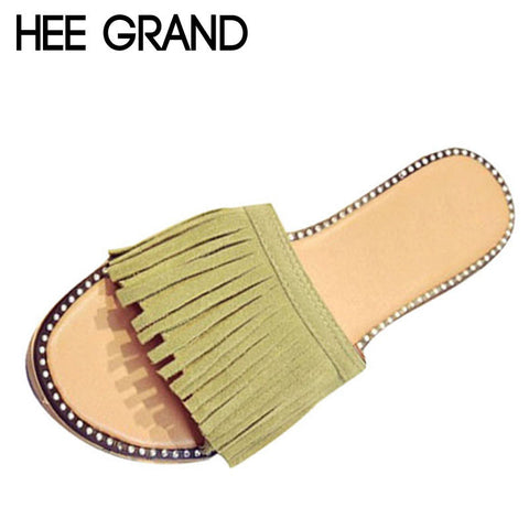 HEE GRAND Tassel Slippers Vintage Flip Flops Summer Gladiator Sandals Platform Shoes Woman Slip On Casual Women Shoes XWZ2737 - Raja Indonesia