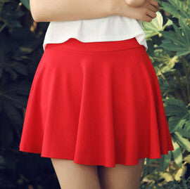Rok Untuk Wanita Fashion Baru High Waist padat Ball Gown kasual longgar Mini Skirt Pants 7 Warna DK6023