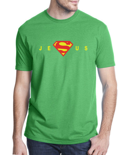 o summer shirt t homme sleeve neck tee Shirt short funny Jesus men Superman 2017 1qRSn