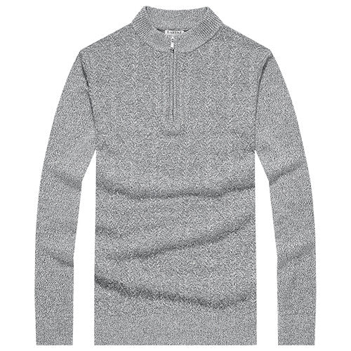 64843f0871189 New Arrival Mens Slim Fit Casual O-Neck Half Zipper Knitted Sweaters Wool  Pullovers Male