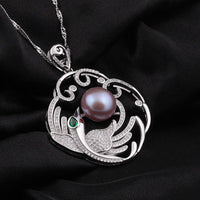 b3a28321926fa MeiBaPJ] Luxury large phoenix pendant necklace jewelry 12-13mm big ...