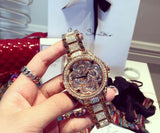 Women Big Diamond Bracelet Watches!Luxury Crystal Women Bracelet Watch Female Mashali Dress Watch Ladies Rhinestone Wristwatches