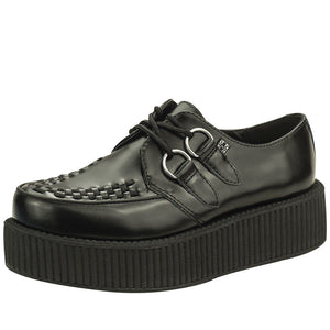 V6802 - BLACK LEATHER VIVA CREEPER