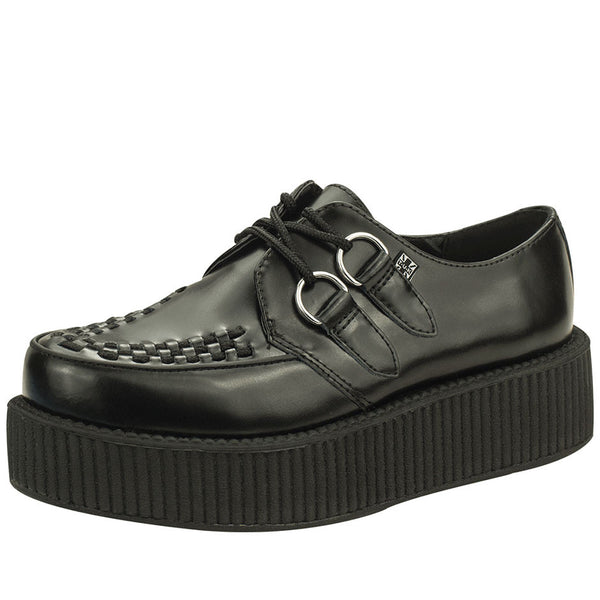 V6802 BLACK LEATHER VIVA CREEPER