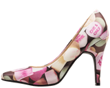 A9047L - CANDY HEARTS PATTERN VEGAN POINTED DIANA HEEL