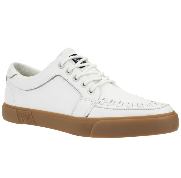 A9185 WHT LEATHER GUM OUTSOLE NO RING VULC SNEAKER