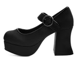 A9440L - Black Mary Jane Marley Heel