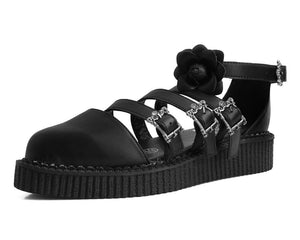 A9591L - Vegan Multi Ornate Buckle Point Toe Creeper