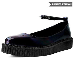 A9634L - Black Gas Holographic Ballet Creeper