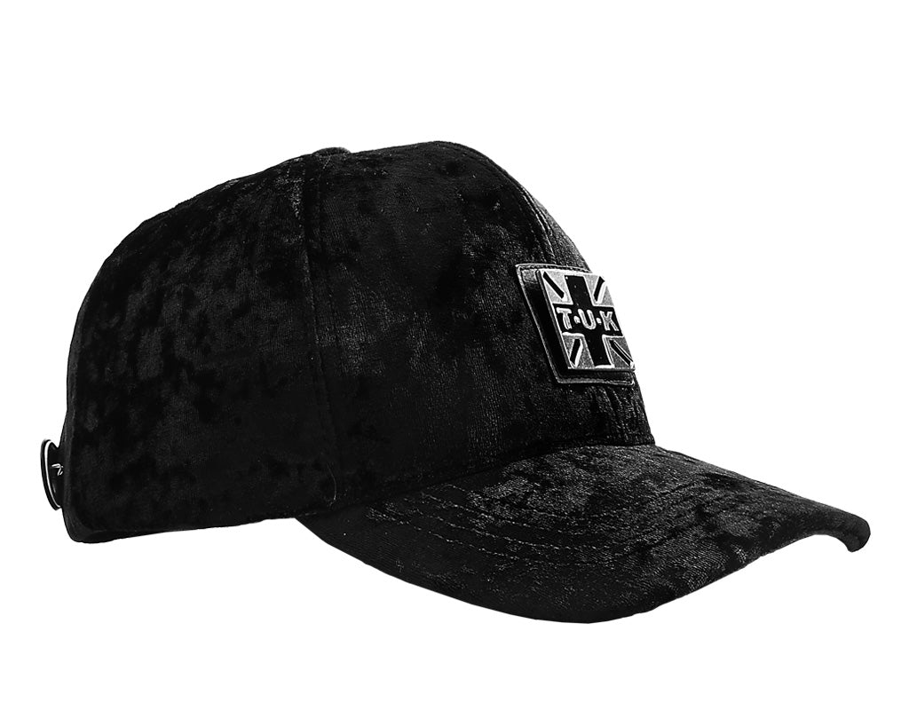 TUKHT01 - Black Crushed Velvet Trucker Hat