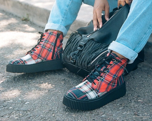 A9596 - Mixed Plaid Casbah Boot
