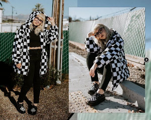 V9536 - Black & White Checkered Viva Mondo Creeper