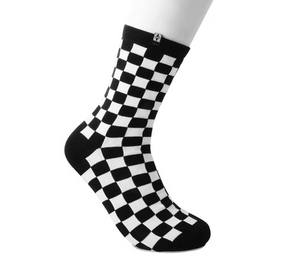 TUKTSK1045 - WOMENS BLACK & WHITE CHECKERED SOCK