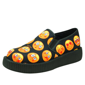 V8931 EMOJI FACE SLIP ON VIVA LOW CREEPERS