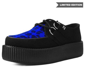V9545 - Black & Blue Leopard Viva Mondo Creeper