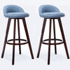 BS06 Low Bar Stool Set of 2 (Blue)
