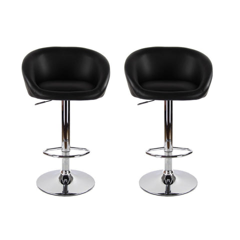 BS01 High Bar Stool (Black) Set of 2
