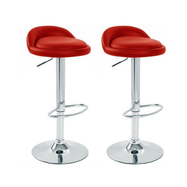 BS02 Low Bar Stool (Red) Set of 2
