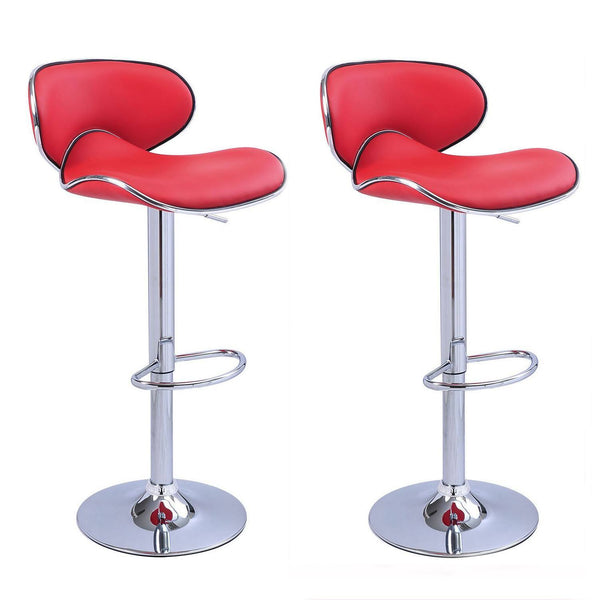 BS03 High Bar Stool (Red) Set of 2