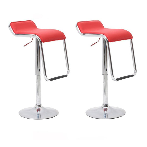 BS04 Low Bar Stool (Red) Set of 2