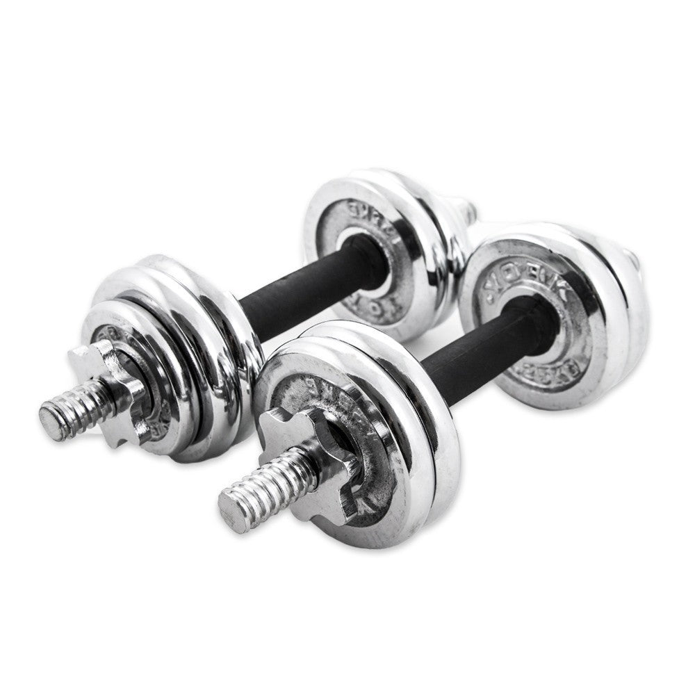 York Chrome Dumbbell Set 15kg: Chrome Dumbbell Set 15kg