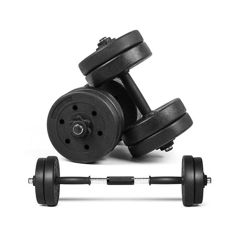 Rubber Coated Dumbbell With Connector (15 KG)
