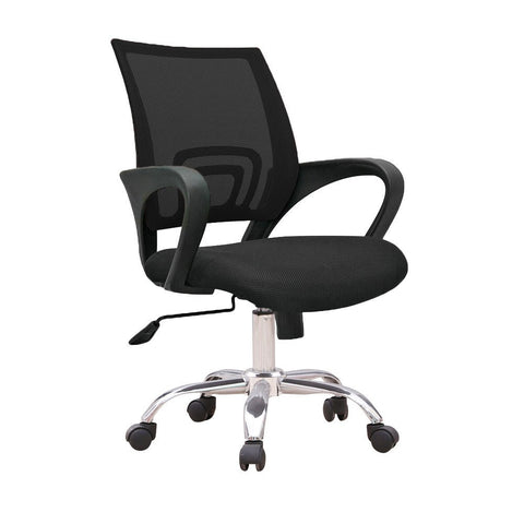 C12 Ergonomic Officer Chair with metal base (Black)