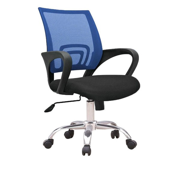 C12 Ergonomic Officer Chair with metal base (Blue)