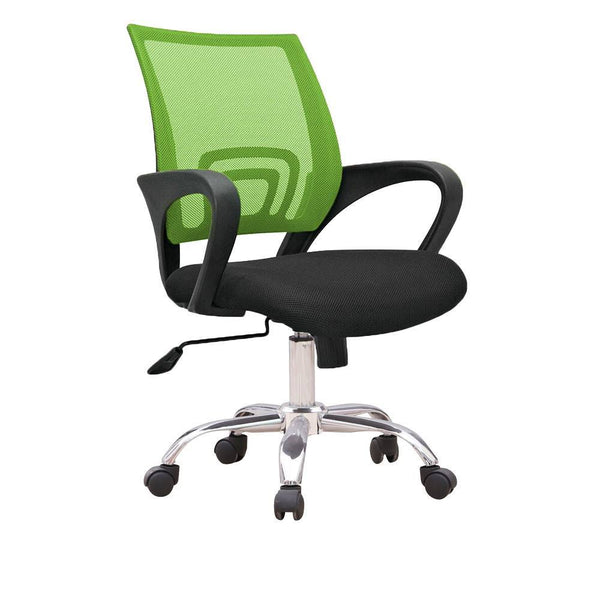 C12 Ergonomic Officer Chair with metal base (Green)