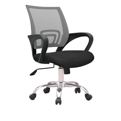 C12 Ergonomic Officer Chair with metal base (Grey)