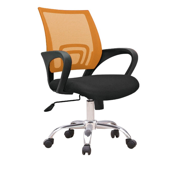 C12 Ergonomic Officer Chair with metal base (Orange)
