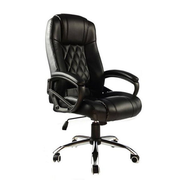 Presidential High Back PU Leather Chair - Black