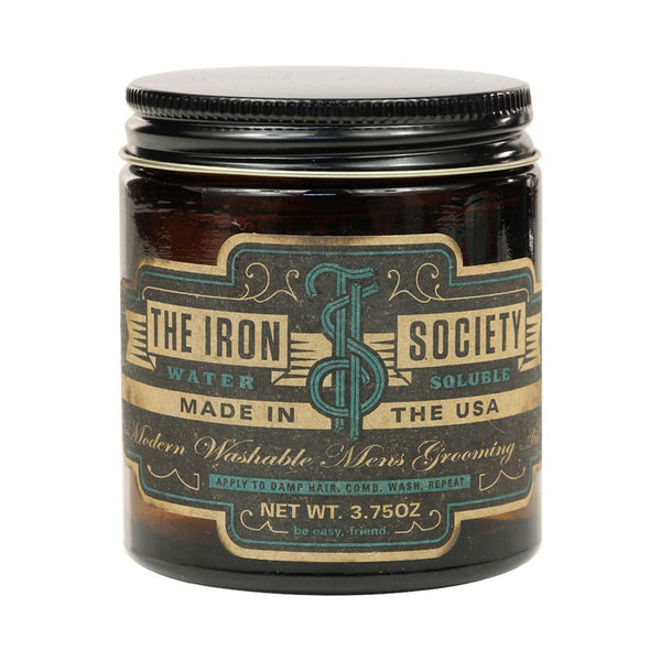 The Iron Society Water Soluble Pomade (3.75 oz)