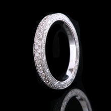 Micropave eternity with engraving