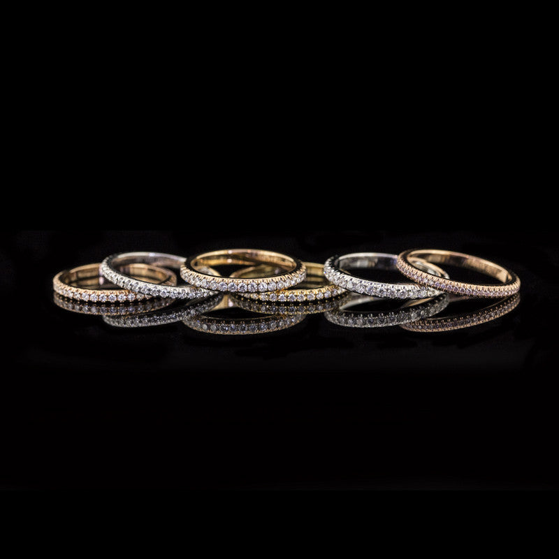 Steeple Set Eternity Rings