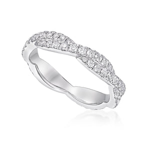 Wall Set Twisted Eternity Ring